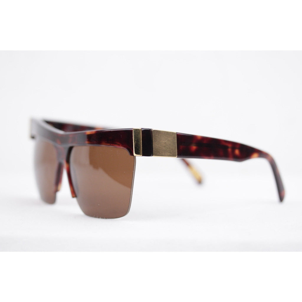 Vintage Gold Brown Unisex Sunglasses Mod. 399