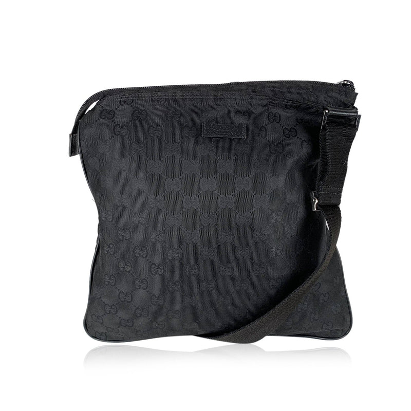 Gucci Monogram Canvas Messenger Bag