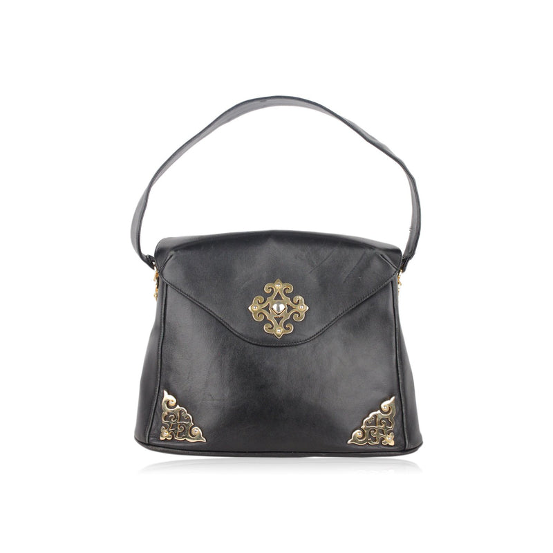 Shoulder Bag with Gold metal Hardware