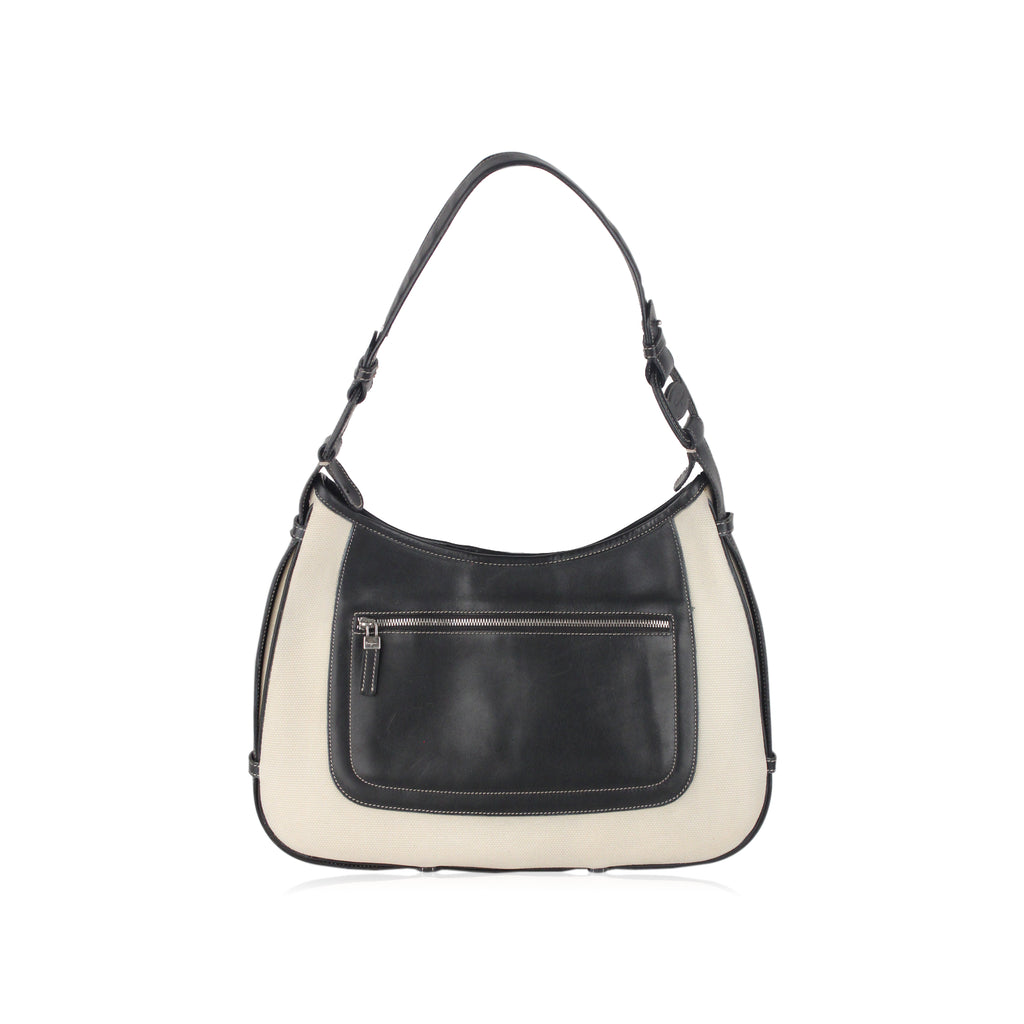 Bicolor Hobo Shoulder Bag