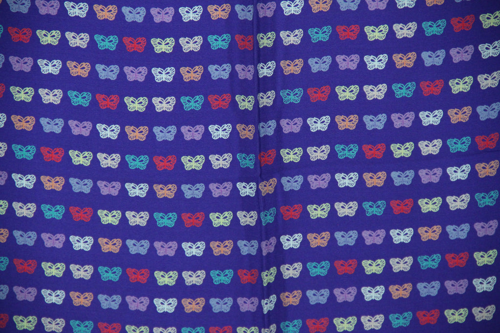 Silk Scarf with Butterflies Design