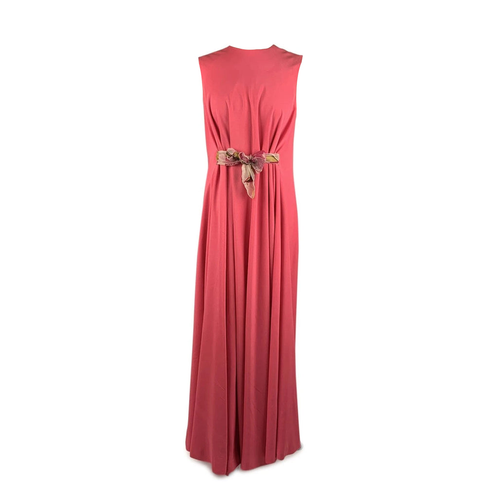 La Mendola Vintage Pink Sleeveless Evening Dress Size 46 IT