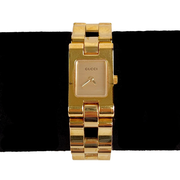 Gucci Stainless Steel Gold Plated Mod 2305L Wrist Watch White Dial - OPHERTY & CIOCCI
