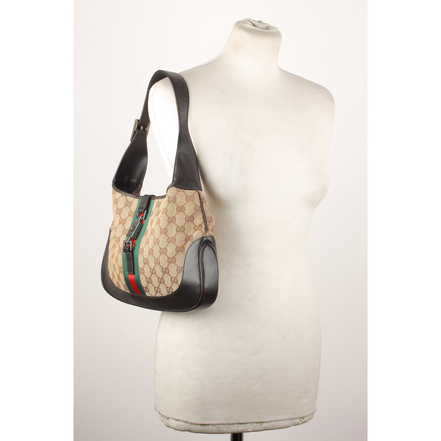3737d310dd3 Enjoy Gucci Monogram Canvas Hobo Jackie O Bag at OPHERTYCIOCCI ...