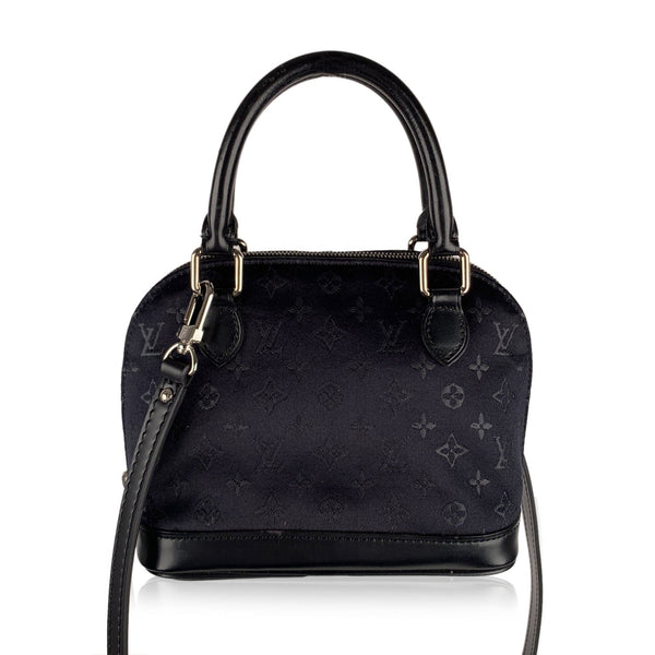 Louis Vuitton Limited Edition Black Micro Satin Mini Alma Bag