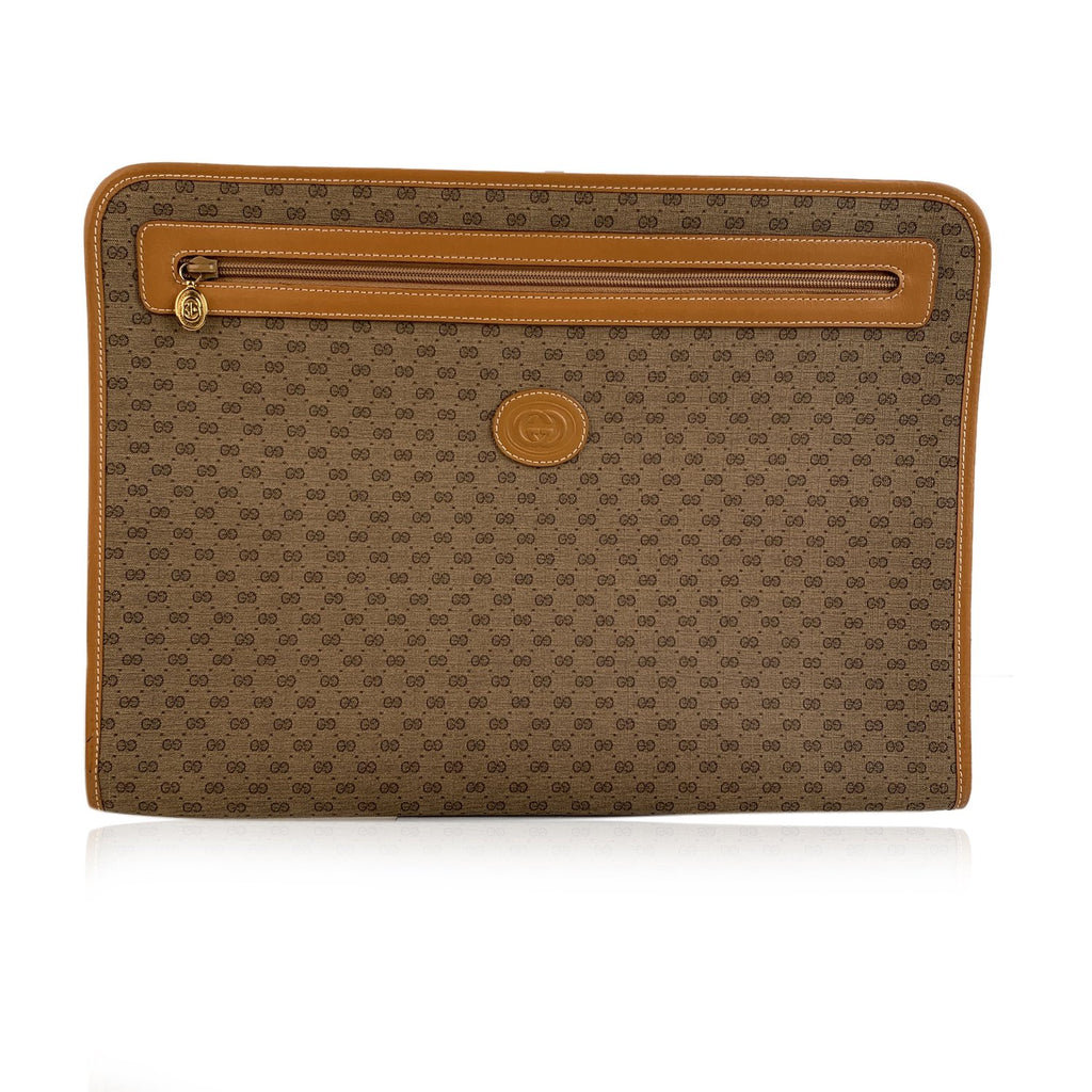 Gucci Vintage Unisex Canvas Leather GG Portfolio Document Holder - OPHERTY & CIOCCI