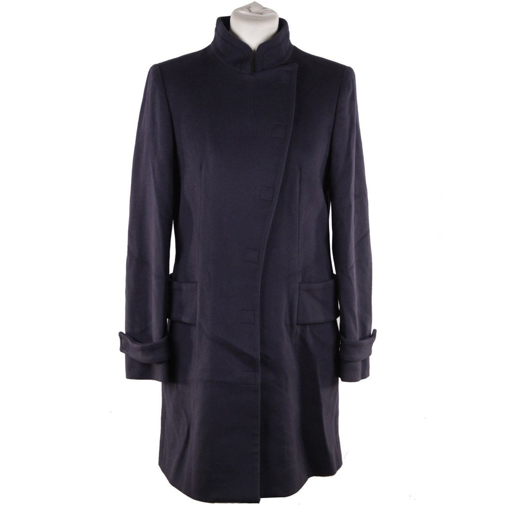Versace Blue Wool Coat 2008 Fall Winter Collection Size 40 - OPHERTY & CIOCCI
