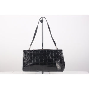 Embossed Croc Look Ilary Clutch Bag