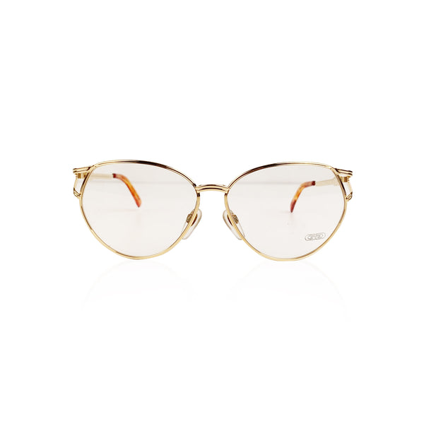 Gerald Genta Vintage Eyeglasses Gold Plated New Classic 05 130 mm