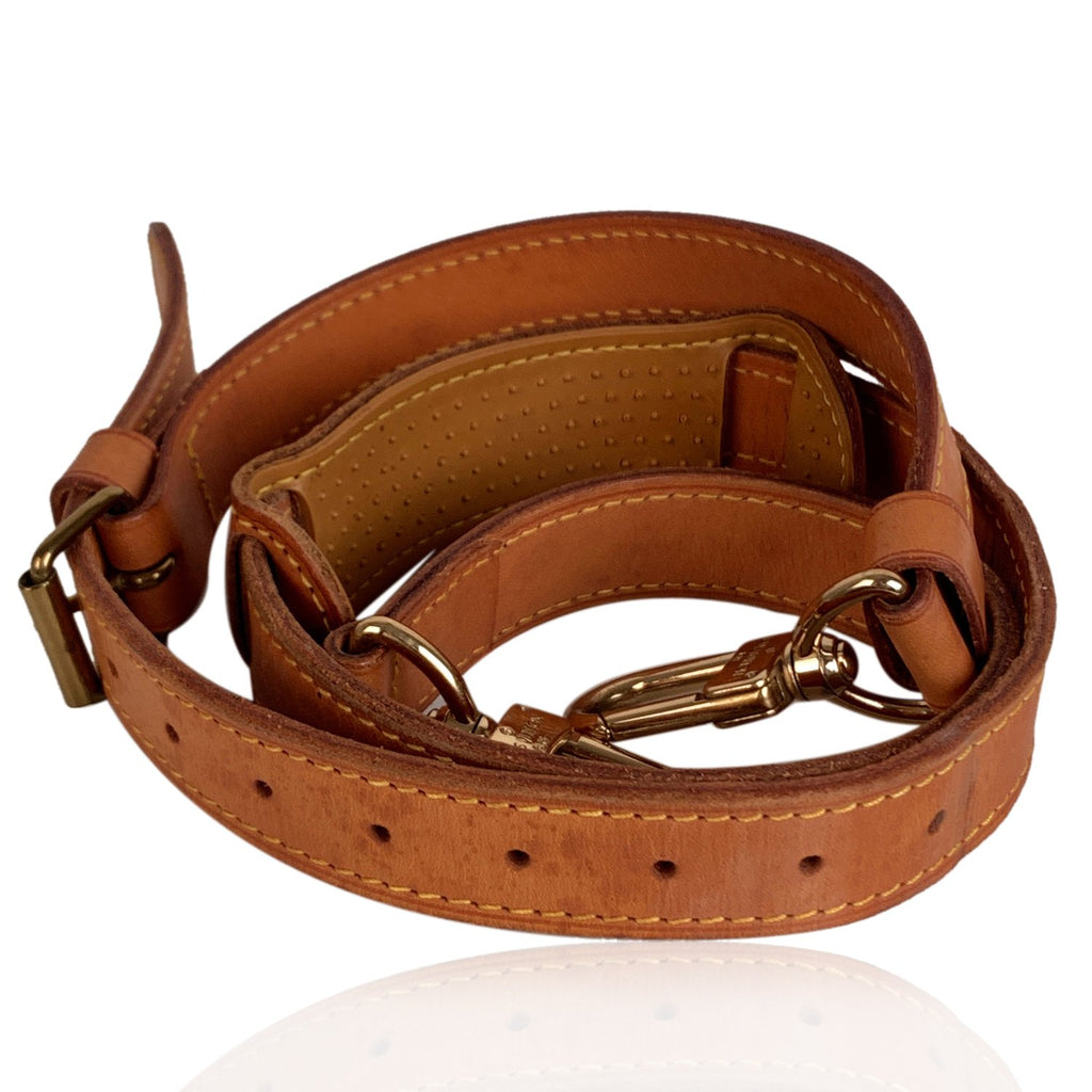 Louis Vuitton Tan Leather Shoulder Strap for Keepall Bandouliere