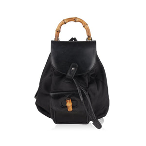 Mini Bamboo Backpack Shoulder Bag