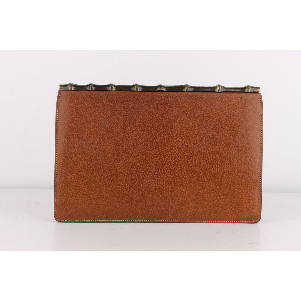 Moschino Redwall Vintage Clutch with Bamboo Look Clasp