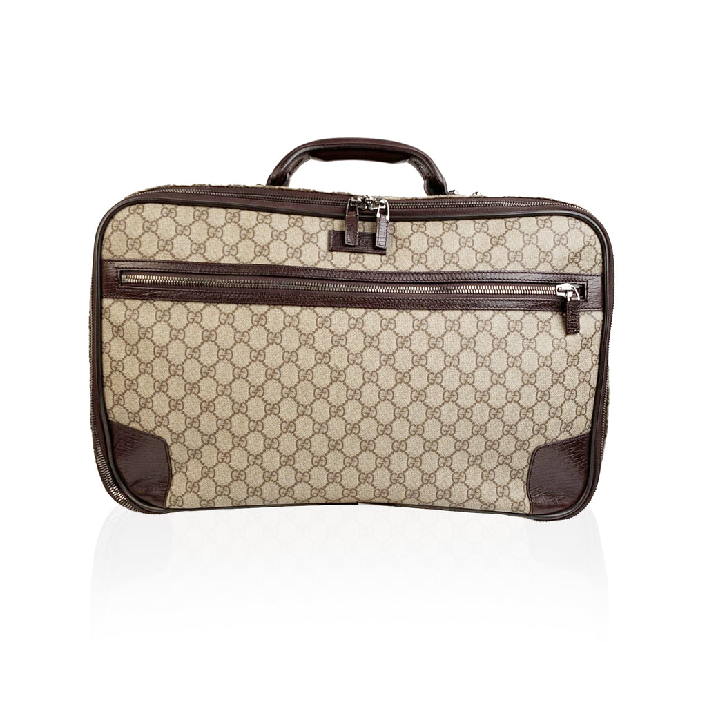 Gucci Monogram Canvas Web Suitcase Travel Bag Cabin Size