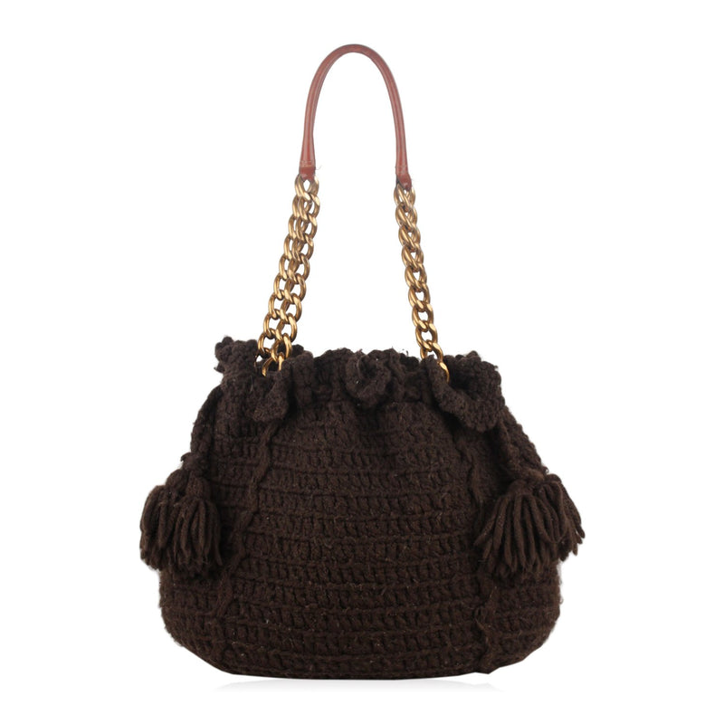 Knit Tote Shoulder Bag