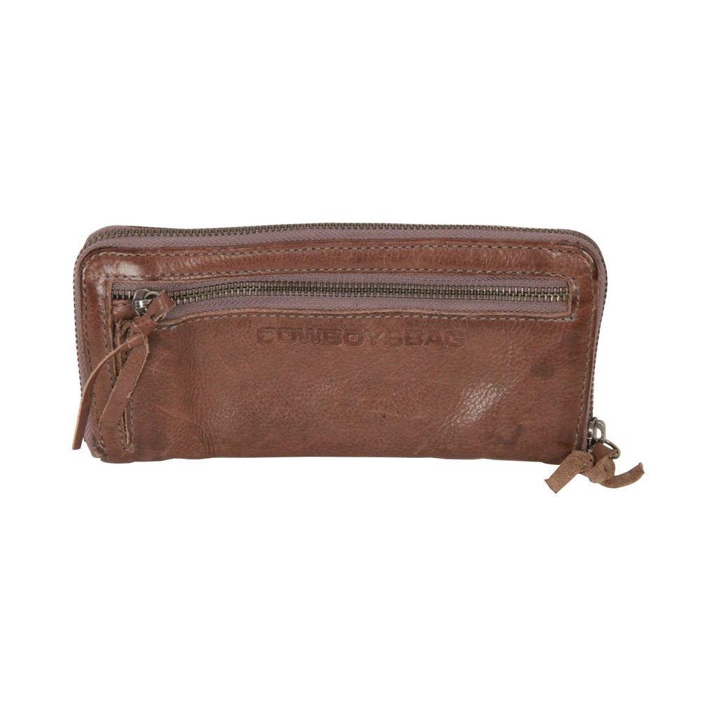 COWBOYSBAG Brown Leather CONTINENTAL Zip WALLET Purse