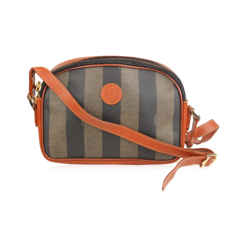 Vintage Striped Crossbody Bag