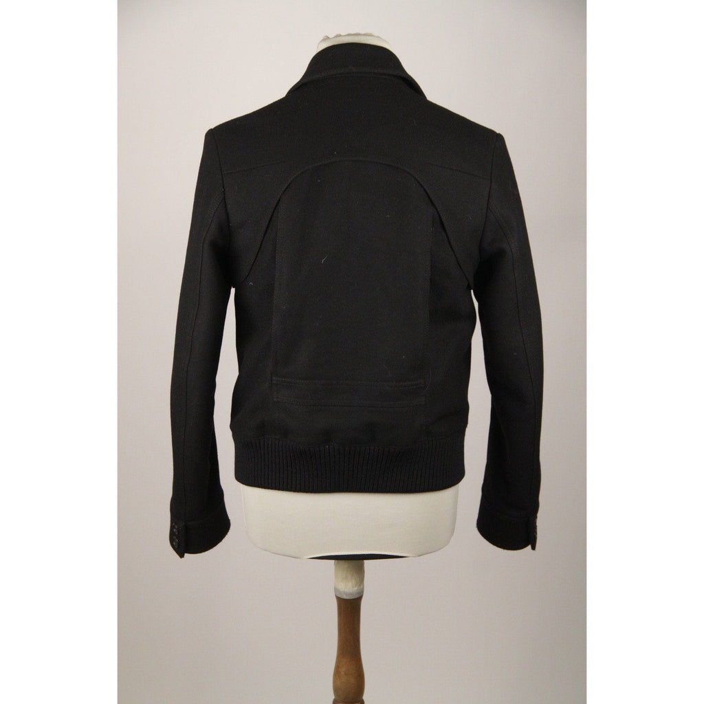 Dior Homme Blackwool Blend Men Flight Jacket Size 48 Opherty & Ciocci