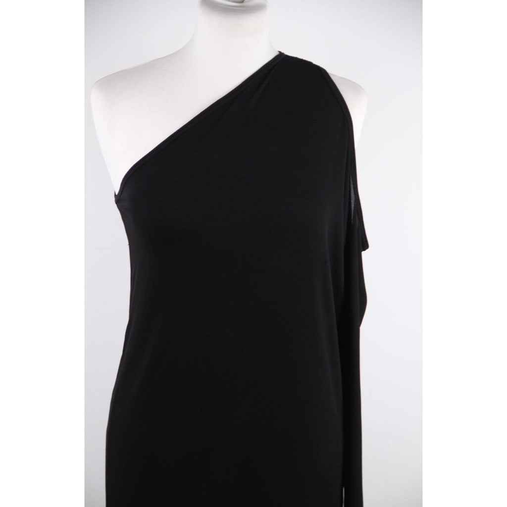 Dolce & Gabbana Black Jersey One Shoulder Dress W/ Cut Out Detail Size 38 Opherty Ciocci