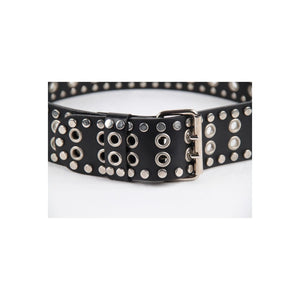 Dolce & Gabbana Black Leather Belt With Studs Size 42\90 Opherty Ciocci