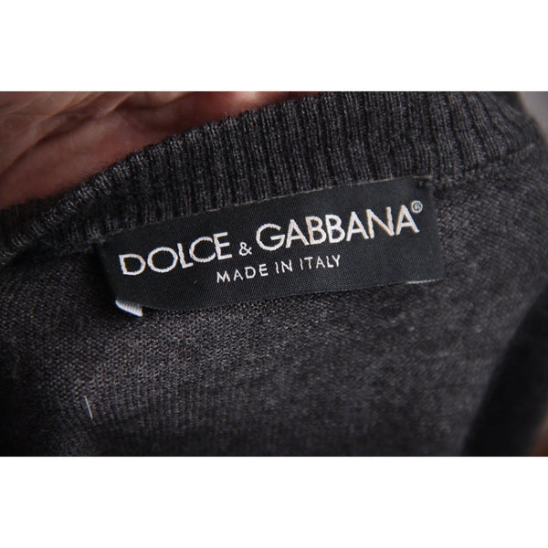 Dolce & Gabbana Dark Gray Cashmere & Silk Short Sleeve Jumper Sz 38 Opherty & Ciocci