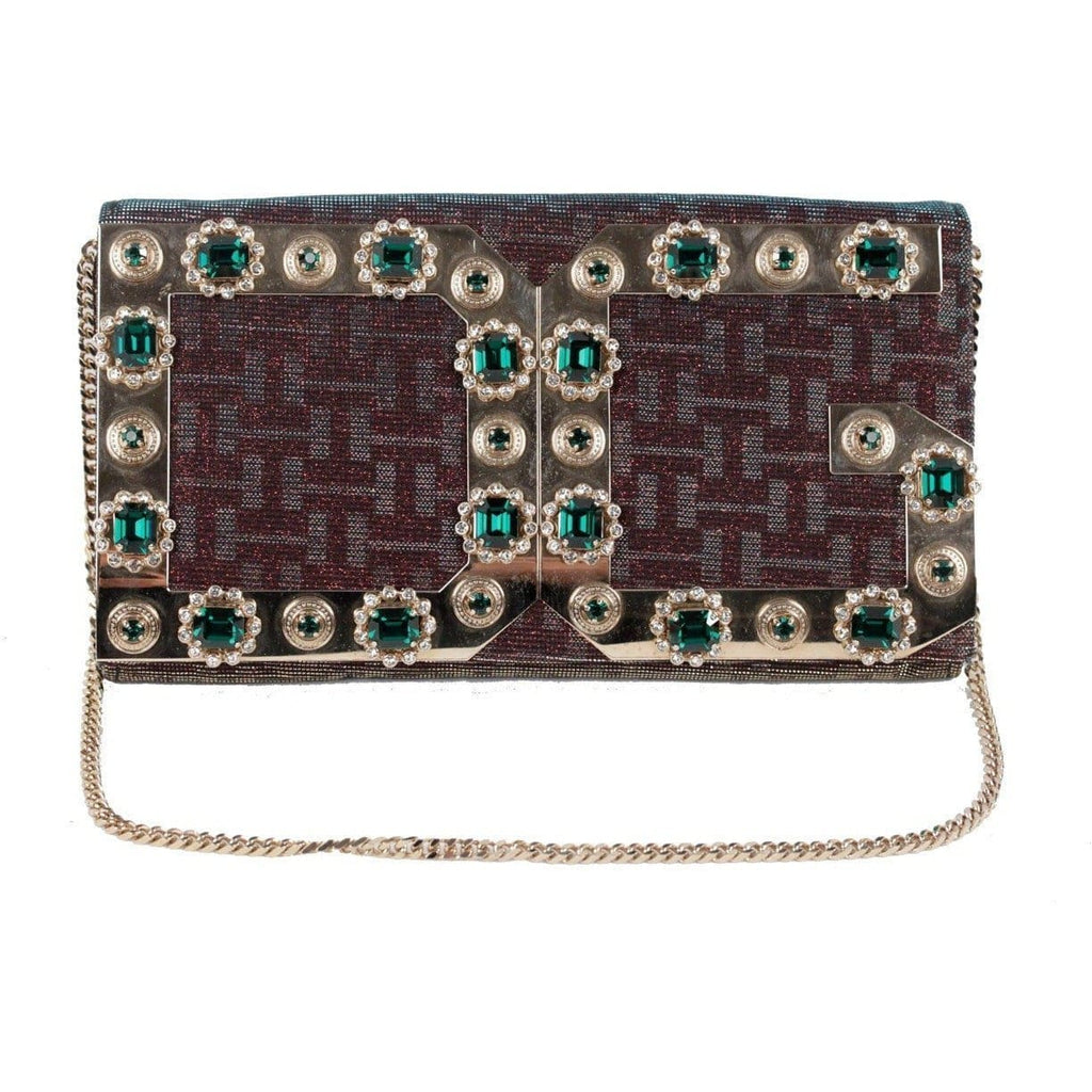 Dolce & Gabbana Iridescent Embellished Evening Bag Clutch W/ Chain Strap Opherty & Ciocci