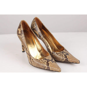 Python Snakeskin Heels Shoes Size 37 Opherty & Ciocci