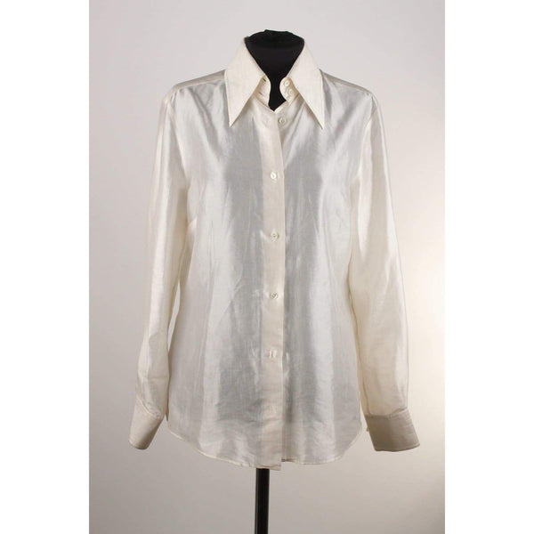 Silk Button Down Shirt Opherty & Ciocci