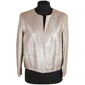 DROMe Metallic Perforated Leather JACKET Size S