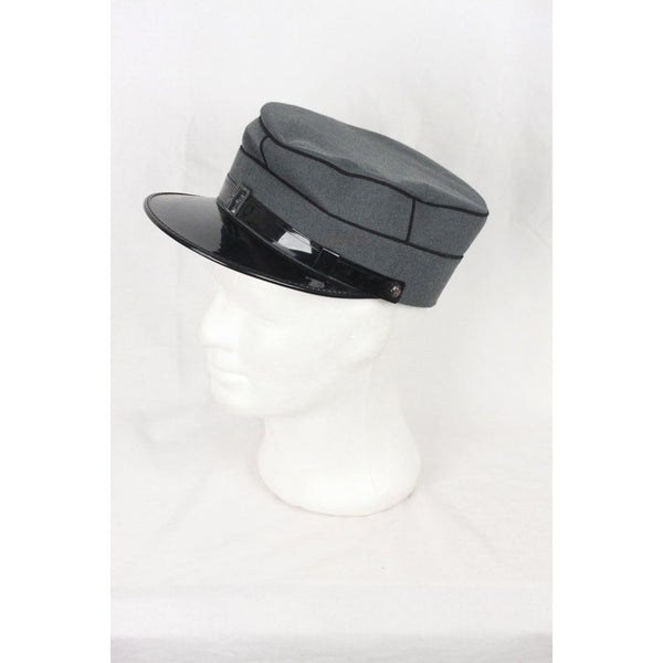 E. Freimuller Vintage Swiss Railroad Conductor Style Gray Hat Opherty & Ciocci