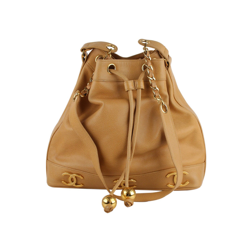 Chanel Vintage Drawstring Bucket