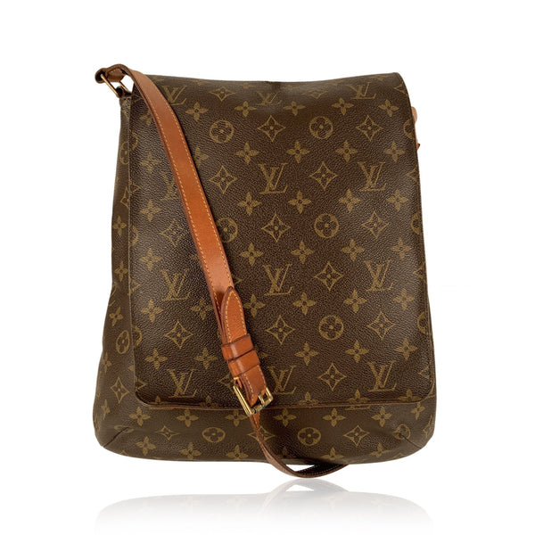 Louis Vuitton Monogram Canvas Musette Shoulder Bag Flap Messenger