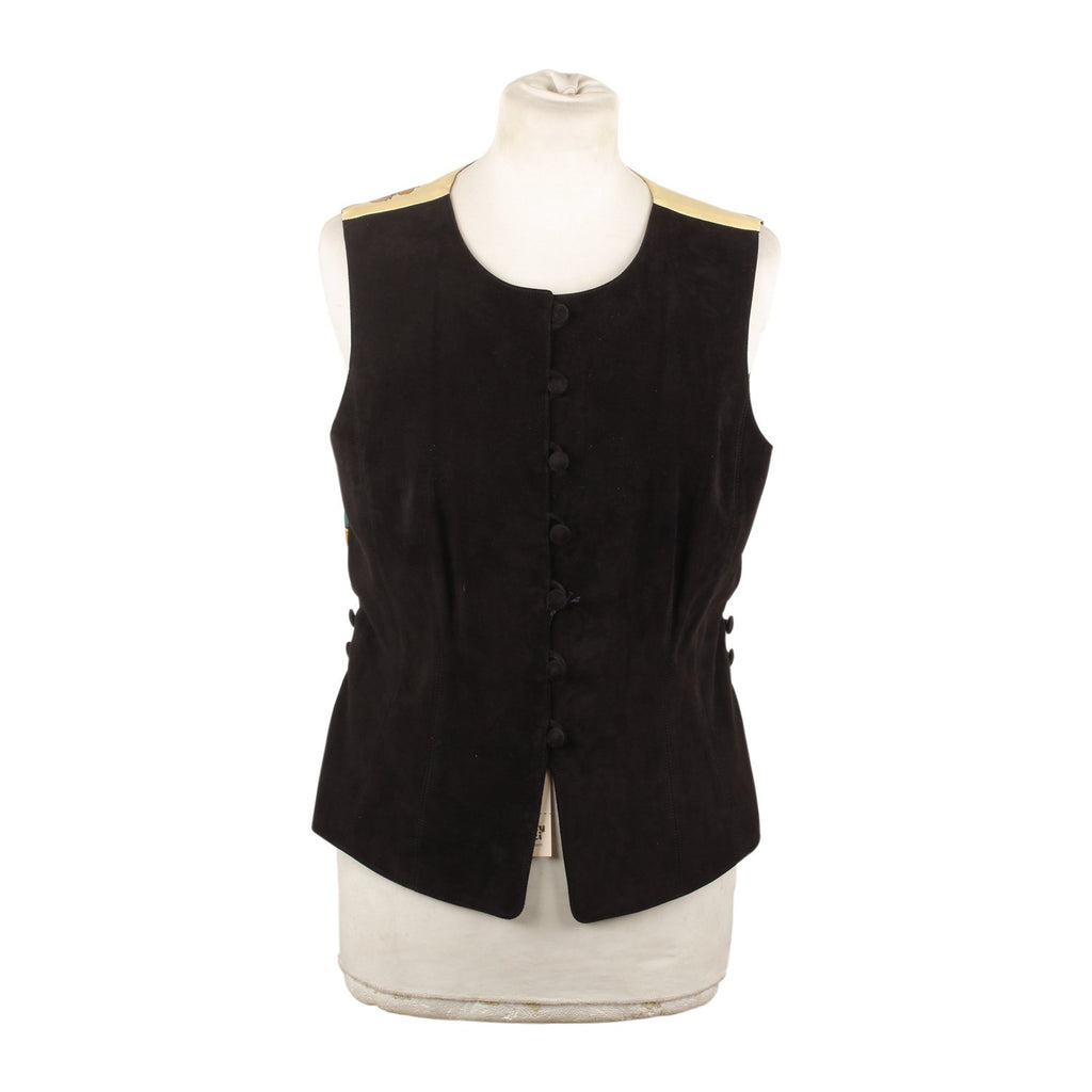 Hermes Vintage Vest with Silk Panel Size 40