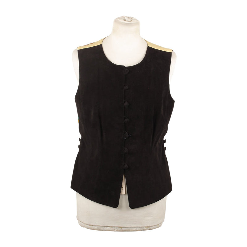 Vintage Vest with Silk Panel Size 40