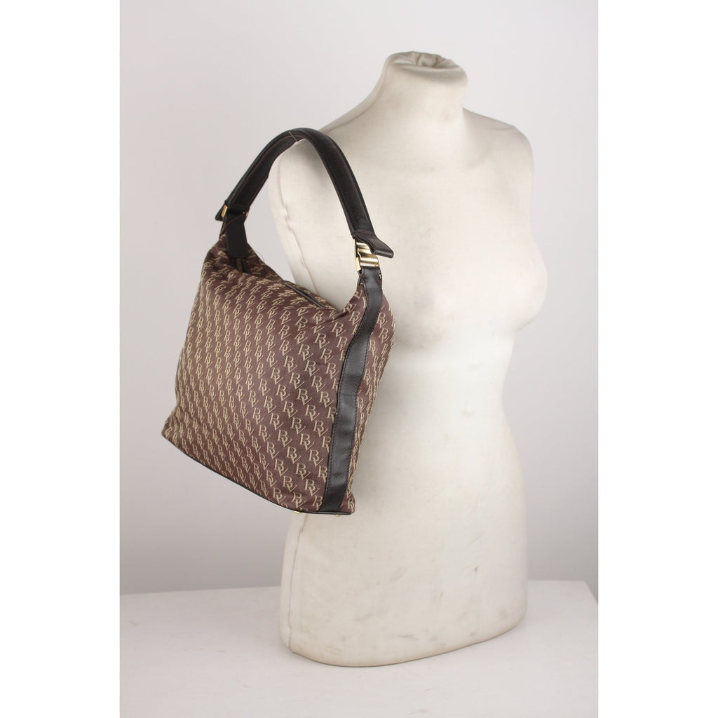 Monogram Canvas Tote Shoulder Bag