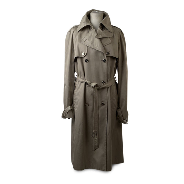 Dolce & Gabbana Beige Cotton Trench Coat Double Breasted With Belt Size 44