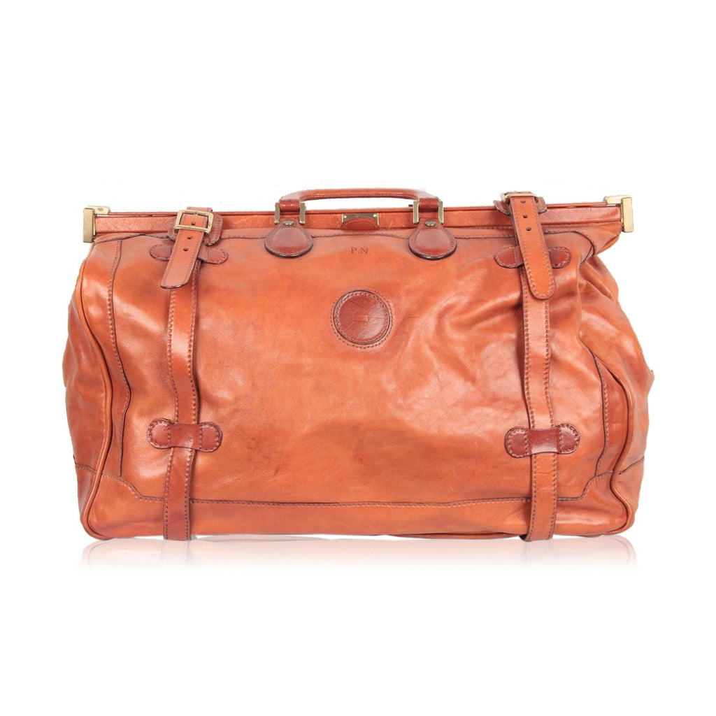 CONTE MAX By NOVI Tan Leather TRAVEL BAG Carry On SUITCASE