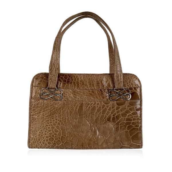 Guido Borelli Vintage Honey Beige Turtle Leather Handbag