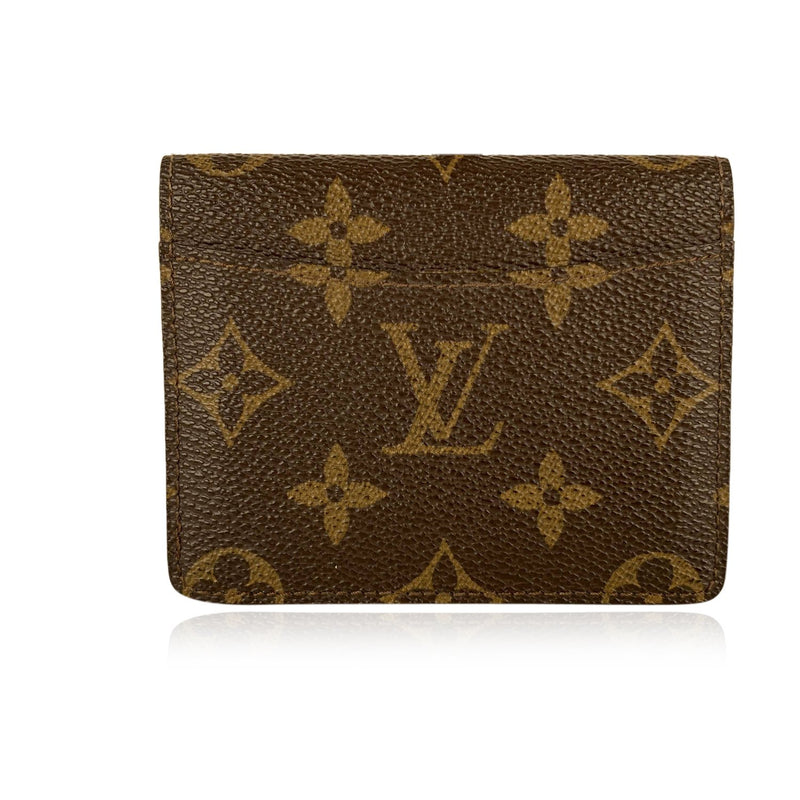 Louis Vuitton Vintage Brown Monogram Brown Unisex Card Holder Wallet