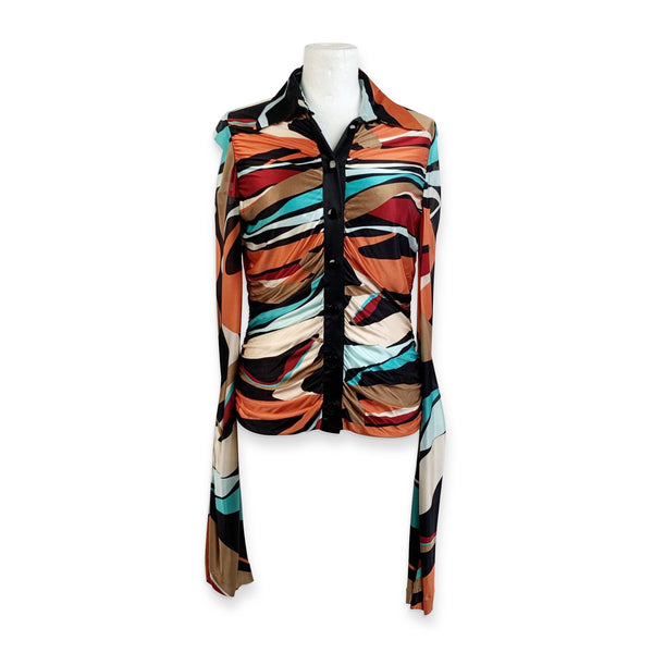 Missoni Multicolored Jersey Button Down Shirt Size 40