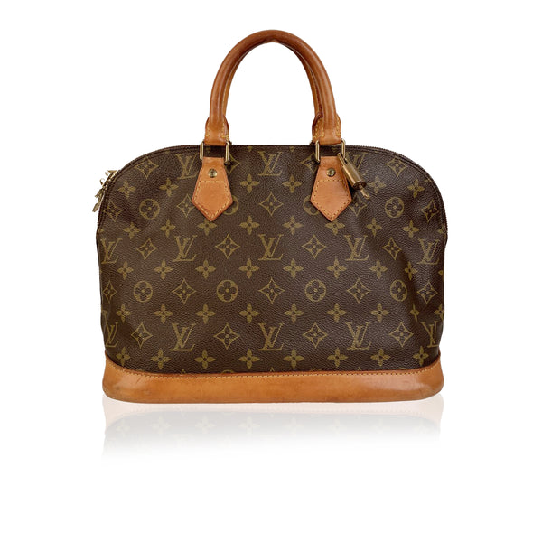 Louis Vuitton Vintage Brown Monogram Canvas Alma Bag