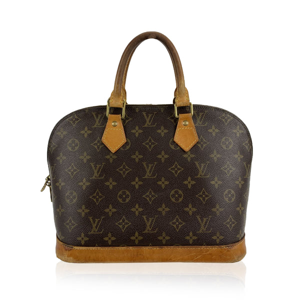 Louis Vuitton Vintage Brown Monogram Canvas Alma Top Handle Bag