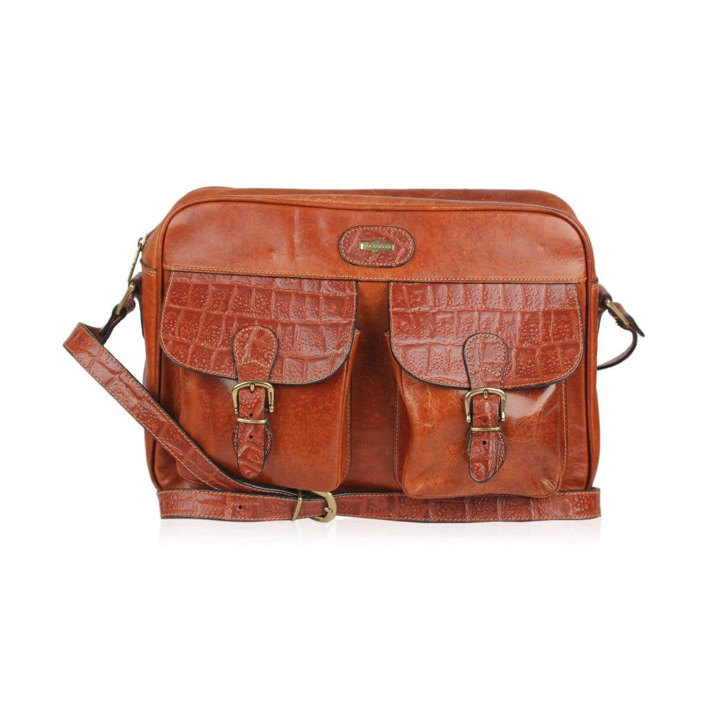 Messenger Bag With Front Pockets Opherty & Ciocci