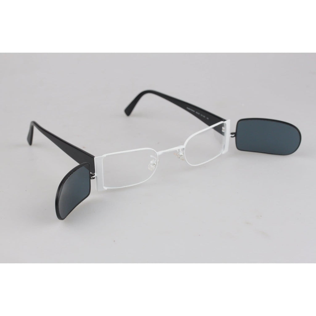 Clip-On Rectangular Unisex Sunglasses Mod Double Decker Opherty & Ciocci