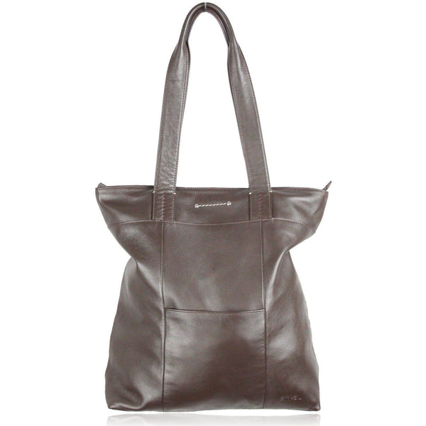 Em-El Brown Leather Tote Shoulder Bag Opherty & Ciocci