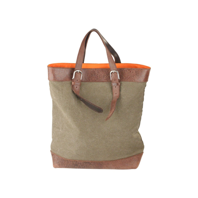 Canvas And Leather Shopping Bag Opherty & Ciocci