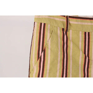 Striped Wide Leg Trousers Pants Size 40 Opherty & Ciocci