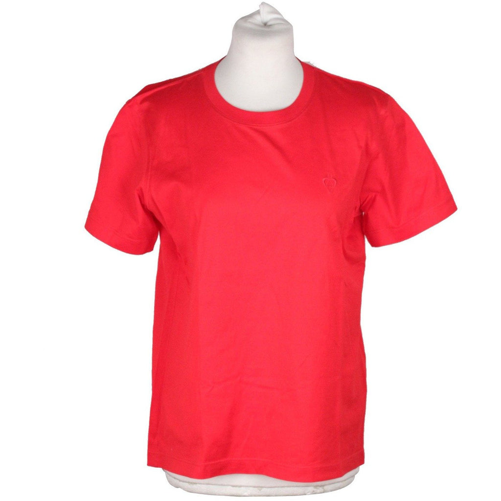 ESCADA by MARGARETHA LEY Bright Red Cotton TSHIRT Crewneck Shirt S