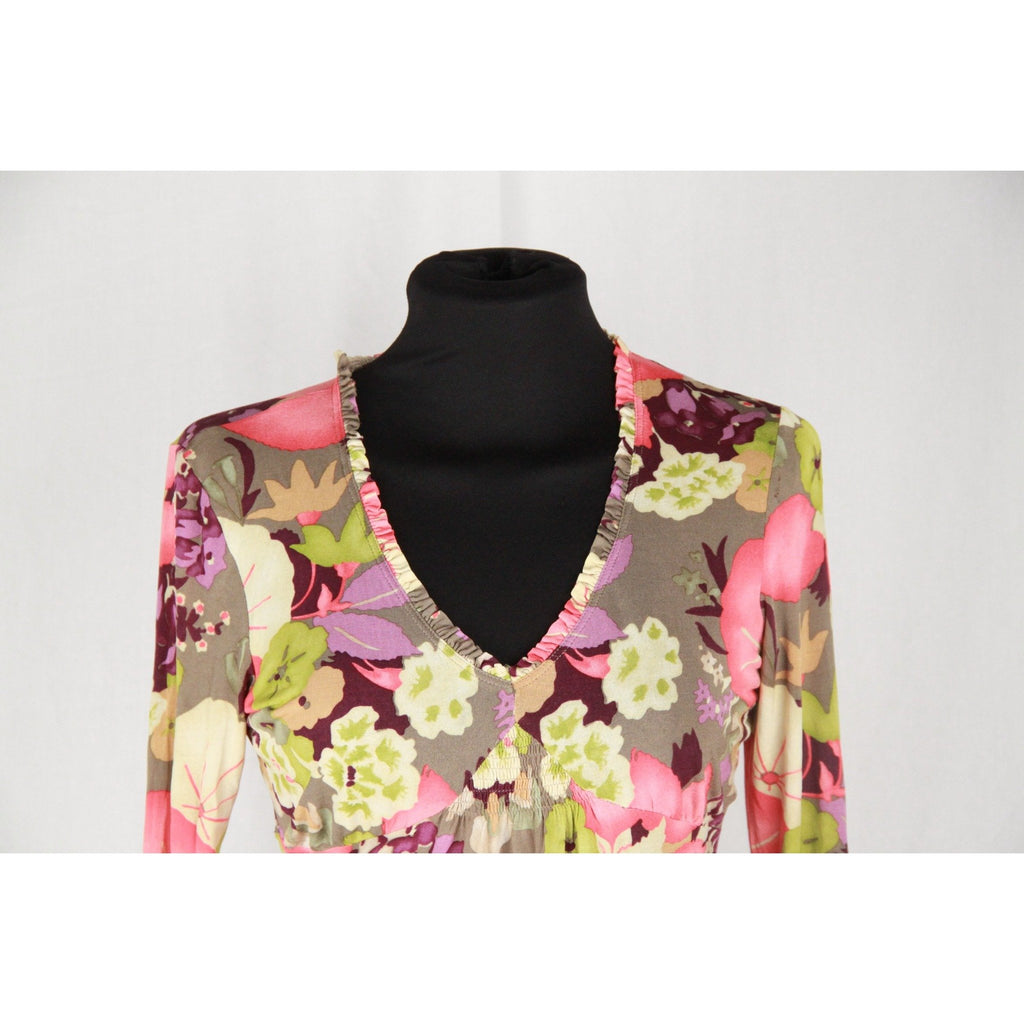 ETRO MILANO Jersey Floral LONG SLEEVE TOP Size 42