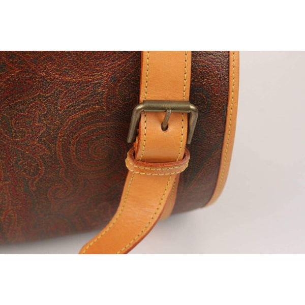 Paisley Canvas Barrel Cylinder Shoulder Bag Opherty & Ciocci