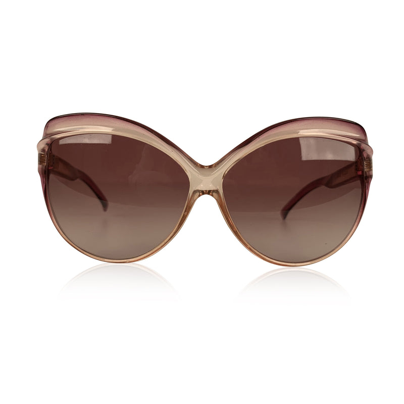 Yves Saint Laurent Vintage Pink Butterfly Oversized Sunglasses 8057